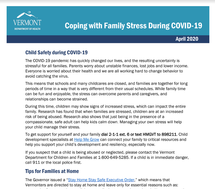covid and family stress